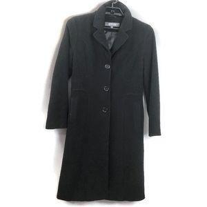 Kenneth Cole Reaction Black Wool Blend Peacoat